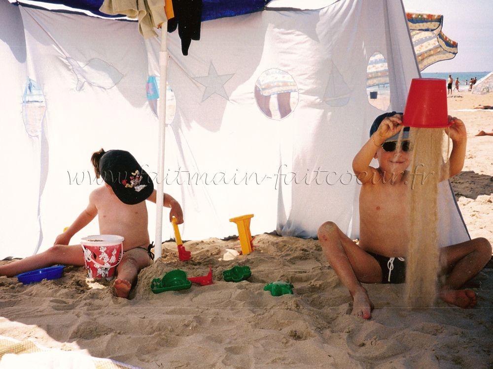 Faitmain faitcoeur - Paravent de plage en toile ...