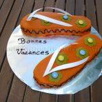 Gâteau Tongs (gâteau marbré multicolore)