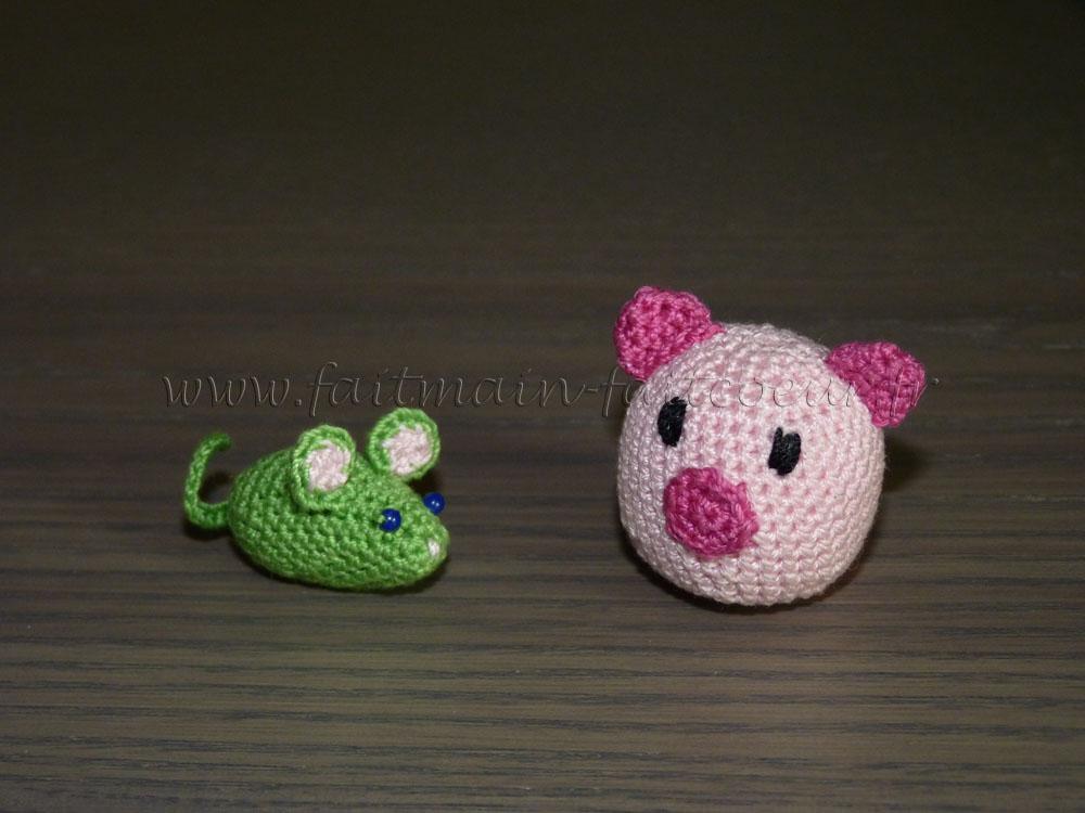 Amigurumi souris & cochon