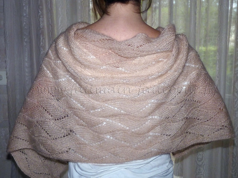 """Upstairs"" shawl"