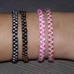 Bracelet macrame perles 01