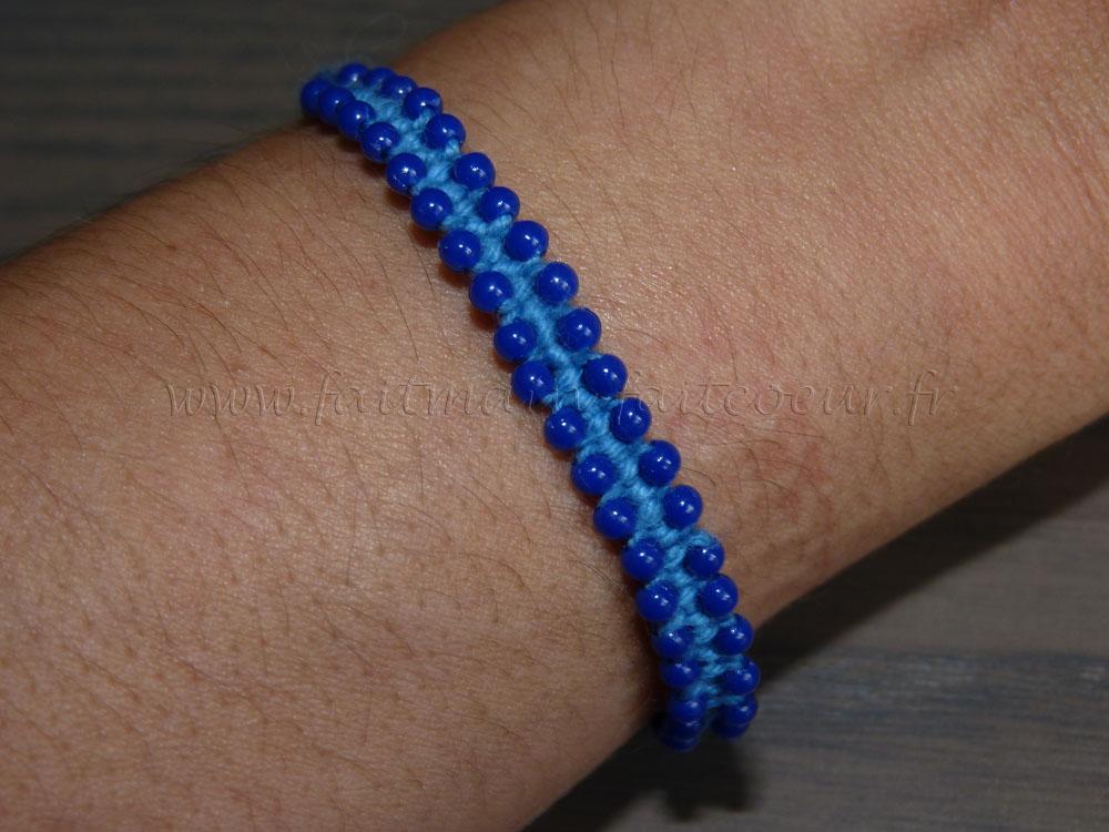 Bracelet macrame perles 01 Bracelet macrame perles 02