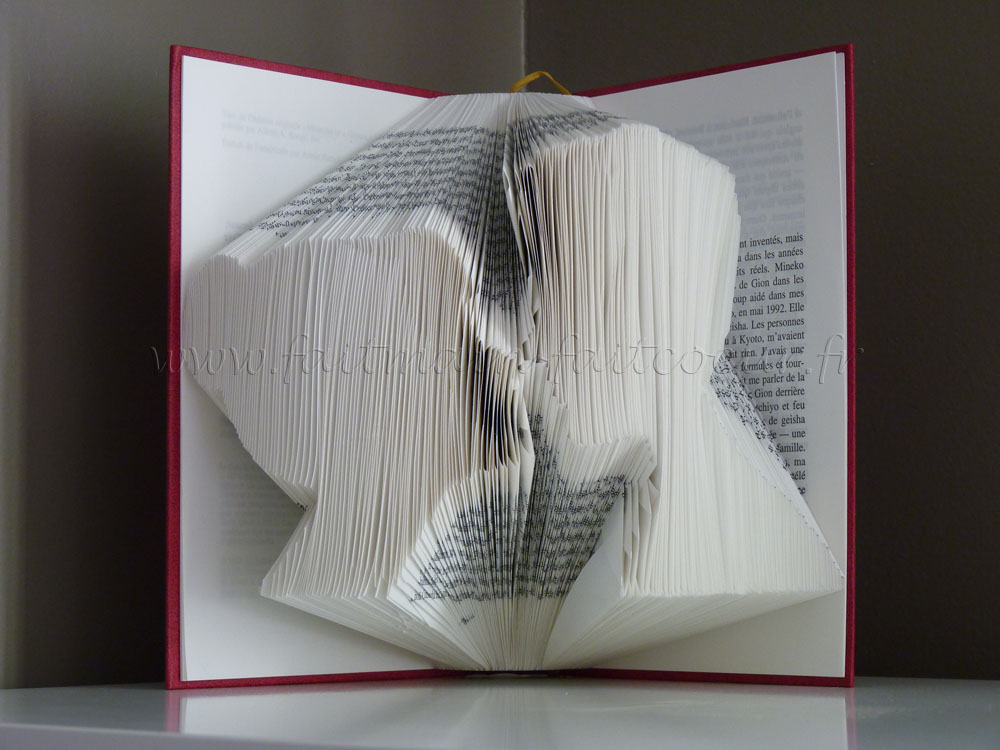 """Lovers"" folded book"