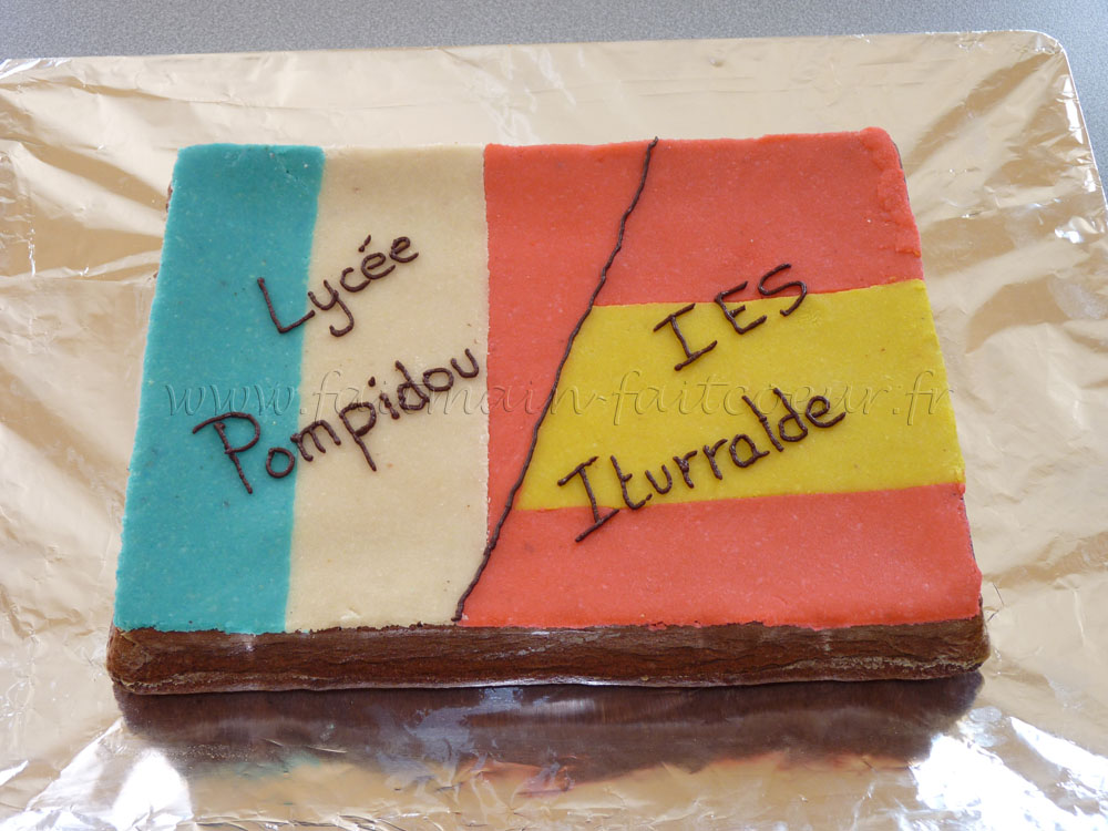 France/Spain decorated cake