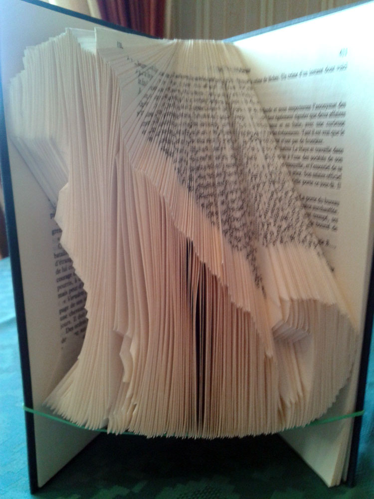 """Dog"" folded book pattern"
