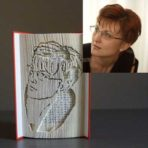 Folded book – portrait from a photo