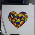 Réaliser un sticker multicolore (coeur vitrail)